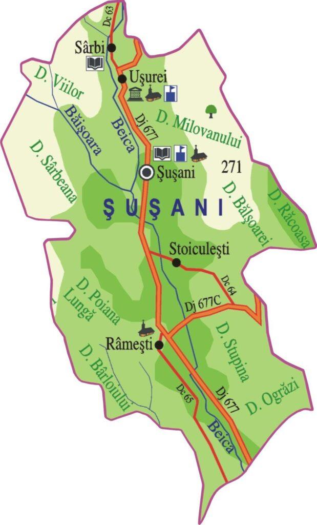 Harta Comuna Susani